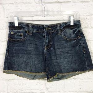 Aeropostale Size 1/2 Distressed Denim Shorts